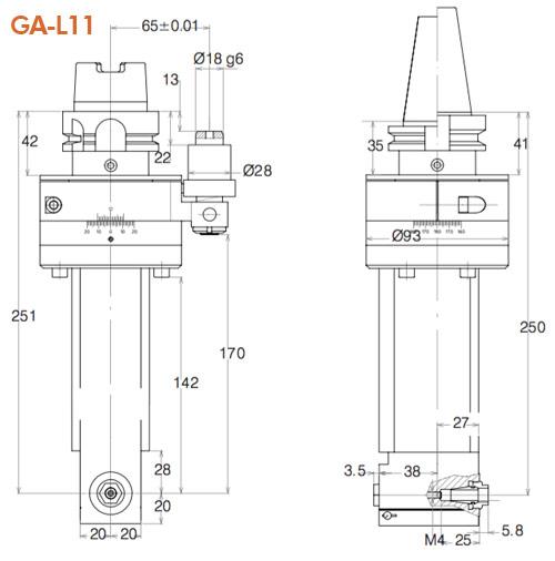 Winkelkopf GA-L-11 Gisstec