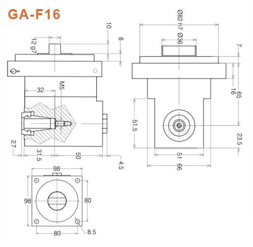 Winkelkopf GA-F16 Gisstec
