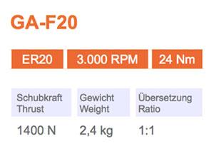 Winkelkopf GA-F20 Gisstec