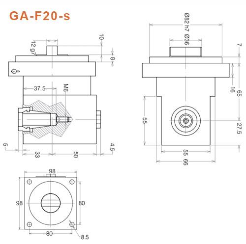 Winkelkopf GA-F20-s Gisstec