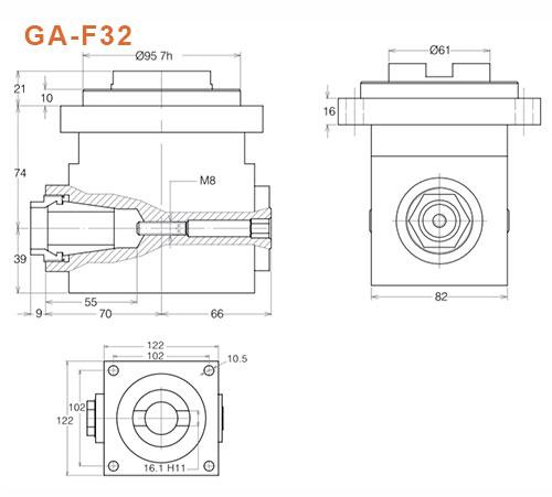 Winkelkopf GA-F32 Gisstec