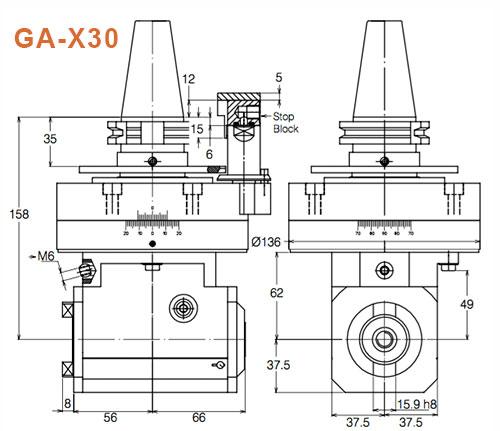 Winkelkopf GA-X30 Gisstec
